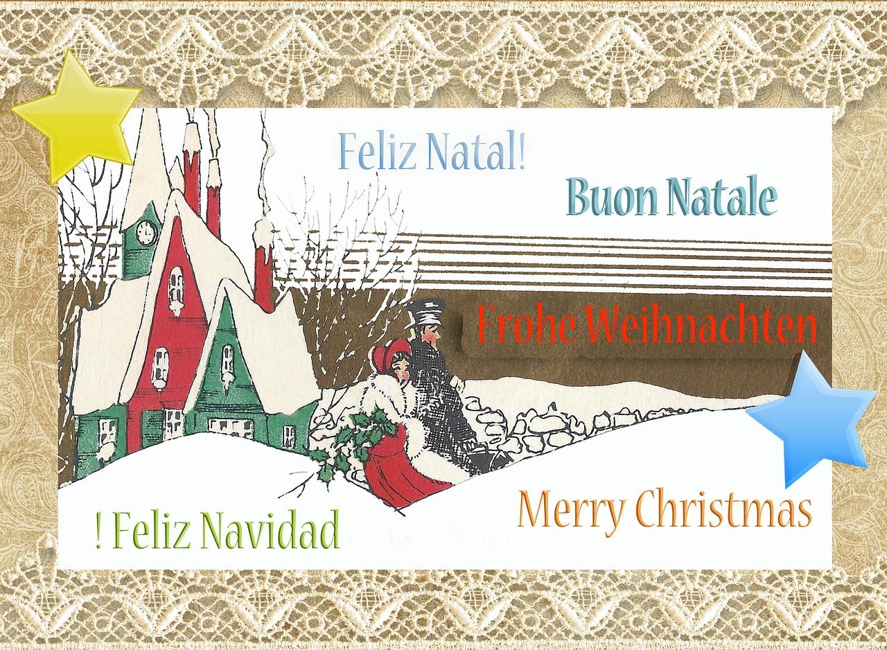 поздравления с рождеством - открытка 3