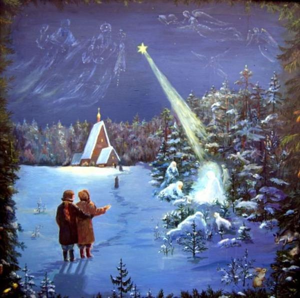 Старинные открытки с Рождеством Христовым 3