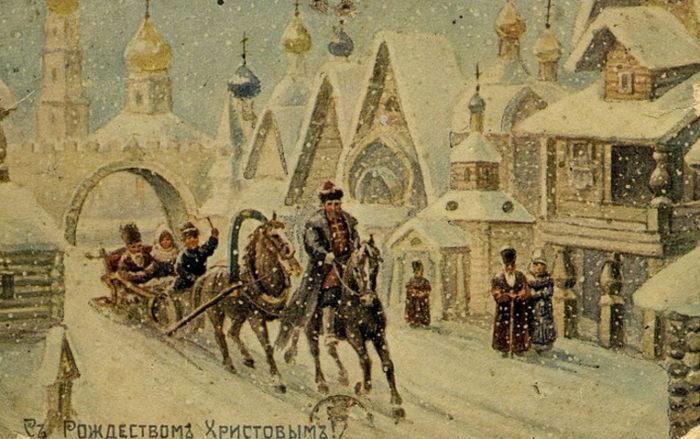 Старинные открытки с Рождеством Христовым 2
