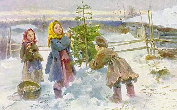 Старинные открытки с Рождеством Христовым 03