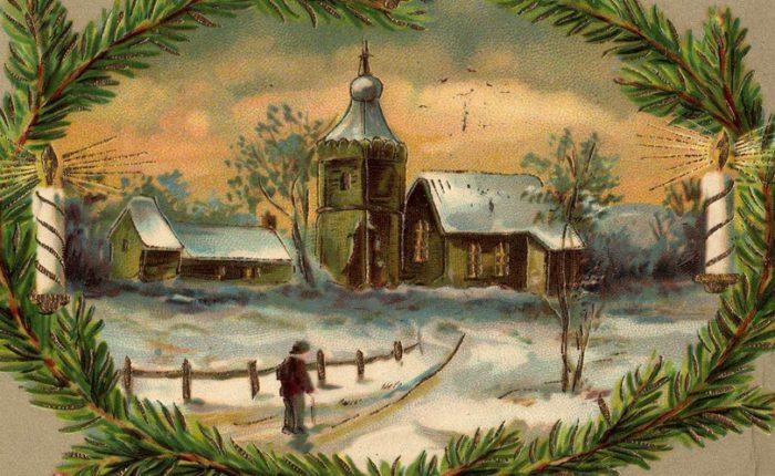 Старинные открытки с Рождеством Христовым 8