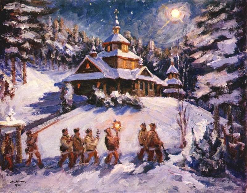 Старинные открытки с Рождеством Христовым 6