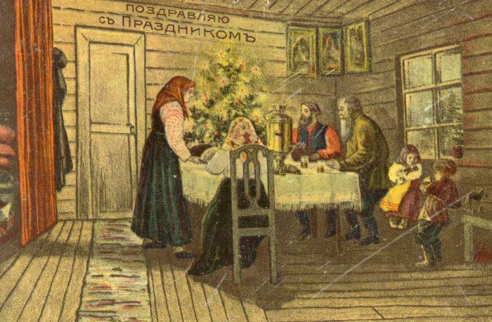 Старинные открытки с Рождеством Христовым 04