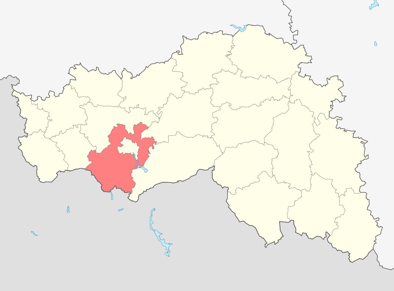 Белгородский район на карте Белгородской области